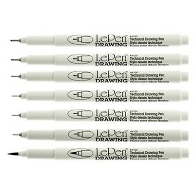 Black Fineliner Pens. Pack of 3. Marvy Uchida. Waterproof Ink 0.05mm to 1mm