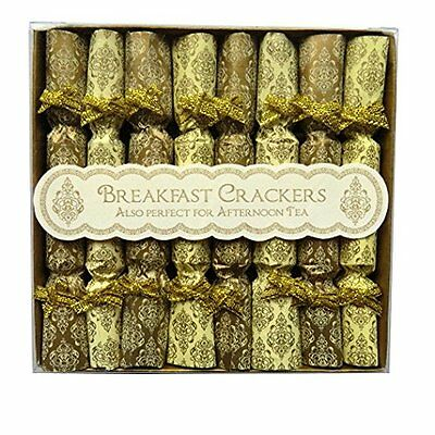 Christmas / Afternoon Tea - Breakfast Saucer Crackers - Gold - Box of 8