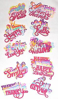 Anna Griffin Die Cuts Get Well Thank you Happy Birthday Assorted Colors U Pick
