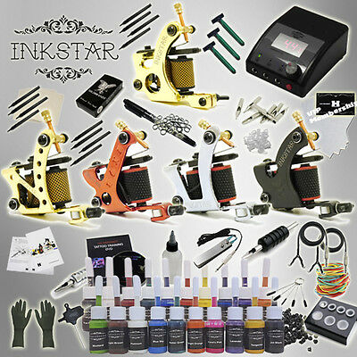 Complete Tattoo Kit Inkstar Ace with Black, Color, Professional Color or No Ink