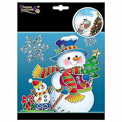 Cute Christmas Party SNOWMAN Suncatcher Plastic Window Clings Decorations