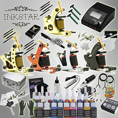 Complete Tattoo Kit Inkstar Ace & Case Black, Color, Professional color Ink Set