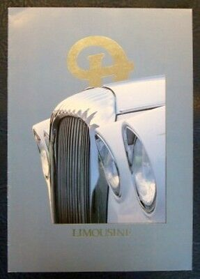 DAIMLER LIMOUSINE Car Sales Brochure c1982