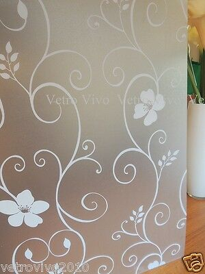 90 CM x 3 M - Lilies Removable Frosted Window Glass Film for privacy