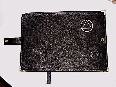 Genuine Leather AA Big Book NEW BLACK Cover  Alcoholics Anonymous Symbol