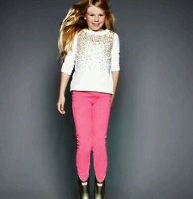 Girls Soft Pink Jeggings jeans trousers Emma Bunton Age 6-7 years Brand New