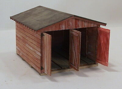 """Sn3 S CUSTOM MMR BUILT"""" RGS/DRGW DOUBLE LINE CAR SHED""""WEATHEREDc"""