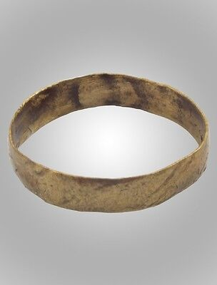 Authentic Ancient Viking Wedding Band Jewelry C.866-1067A.D. Size 6 3/4  (16.4mm