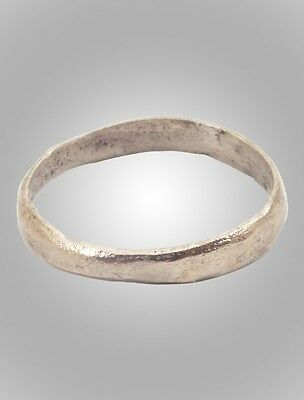 Ancient Silver over bronze Viking Age Ring, C.866-1067A.D. Size 9 1/4  (18.7mm)(