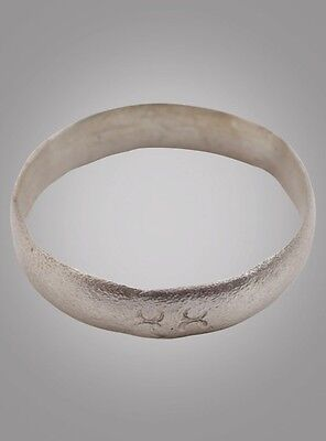 Ancient Viking silver over Bronze Wedding Band Jewelry C.866-1067A.D. Size 11 3/