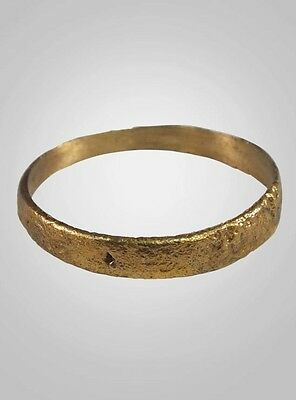 Authentic  Ancient Viking Wedding Band Jewelry C.866-1067A.D. Size 10  (20mm)(Br