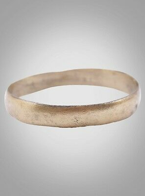 Ancient Viking Wedding Band Jewelry C.866-1067A.D. Size 13  (22.1mm)(Brr974)