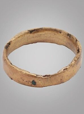 Authentic Ancient Viking Wedding Band Jewelry C.866-1067A.D. Size 5 (15.8mm)(Brr