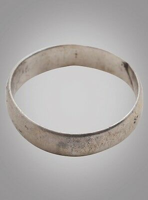 Ancient Viking Wedding Band Jewelry C.866-1067A.D. Size 8 3/4   (19.4mm)(Brr877)