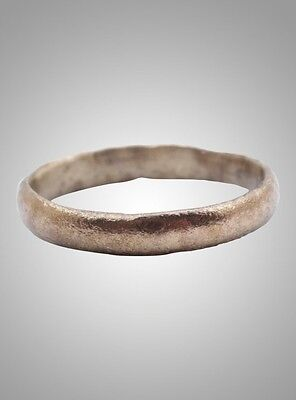 Authentic Ancient Viking Wedding Band Jewelry C.866-1067A.D. Size 11 (20.6mm)(Br
