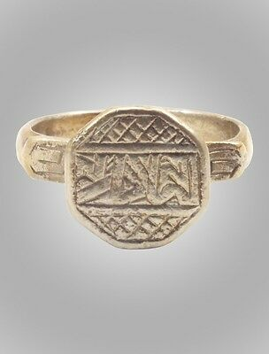 Ancient Byzantine  Ring C.600-900A.D. Size 9 1/4  (19mm)(BRR141)