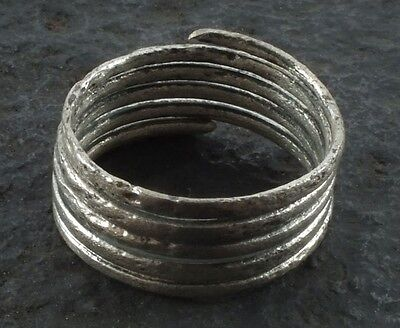Ancient Viking Coil Snake Ring  C.866-1067 A.D. Size 10    (20.1mm)(brr1096) Vik