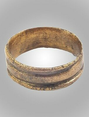 Vintage Antique Ancient Wedding band Viking Ring C.866-1067AD. Size 6   (16.2mm)