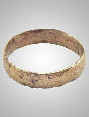 Authentic Ancient Viking Wedding Band Jewelry C.866-1067A.D. Size 11 3/4  (20.9m