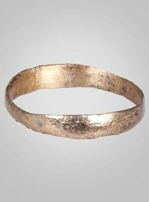 Ancient Viking  Wedding Band Jewelry C.866-1067A.D. Size 10   (19.8mm)(Brr654)
