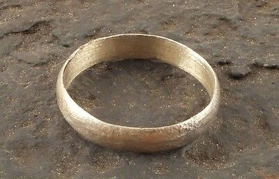 Ancient Viking Silver over Bronze Wedding Band Jewelry C.866-1067A.D. Size 14