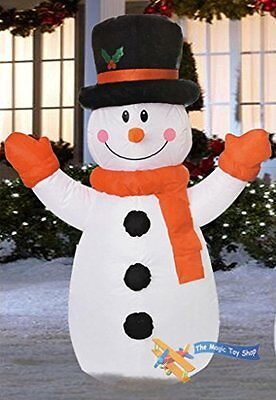 Inflatable Father Christmas Santa Outdoor Decoration 120 cm Light Up Snowman