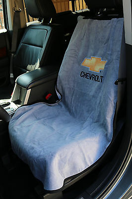Chevrolet Car Seat Towel Slip On Cotton Terry Cloth Grey Cover 47