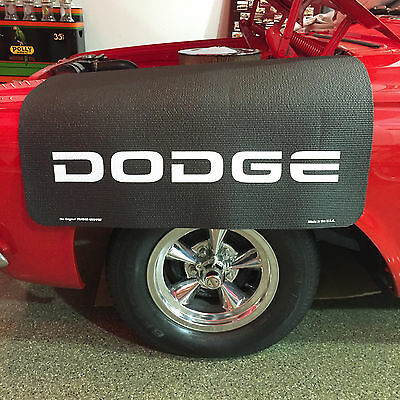 Dodge Logo Fender Gripper Black Protective Cushion Fender Cover: FG2219 (NEW!)