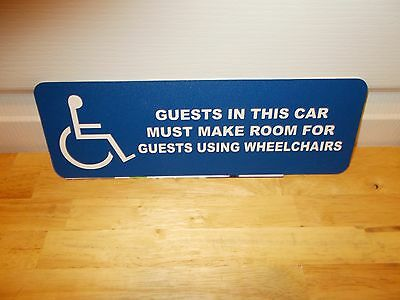 Walt Disney World:MONORAIL BLUE HANDICAPPED SIGN  Extremely Rare!!!!!!!!!!