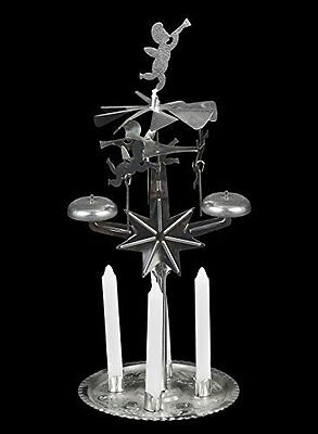 Silver 4pc Candle Cherub Chime. A Great Christmas Item But Of Interest All Year