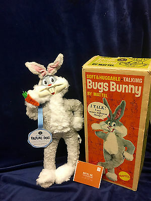 BUGS BUNNY. Mattel 60s, ORIGINAL BOX. Clean & Talks