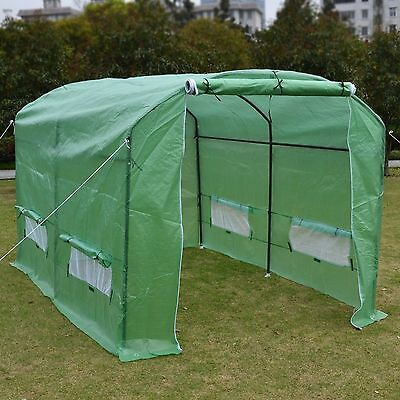 New 10'X7'X6' Larger Hot Green House Walk In Outdoor Plant Greenhouse