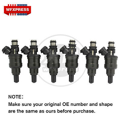 Set of 6 New 4-hole Fuel Injectors For 89-95 Toyota 4Runner Pickup T100 3VZE 3.0