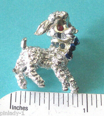 Vintage poodle  scatter pin - lapel pin , brooch GIFT BOXED