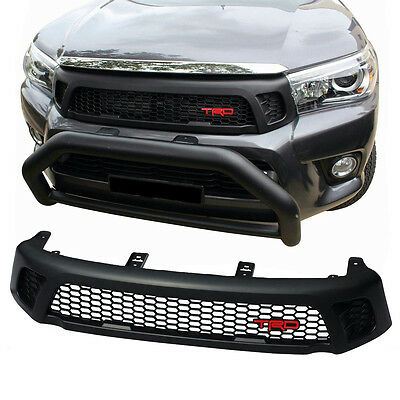 Front Grille Grill Black Trd Style Fix Toyota Hilux Revo Ute Sr5 M70 M80 2015-16