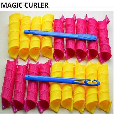 20pcs 20cm Large Magic Circle Hair Rollers DIY Curlers Twist Spiral Styling Tool