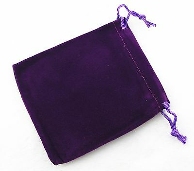 lot of 10 25 50 100 Purple Velvet Gift Bags Jewelry Pouches Party Wedding Favors