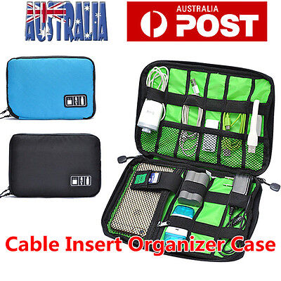 Electronic Accessories Storage USB Cable Organizer Bag Case Drive Travel Insert