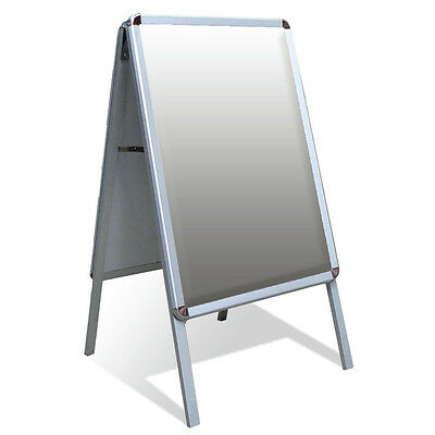 A2 Aluminium A-Board Pavement Sign Poster Snap Frame New Display Stand Advertise