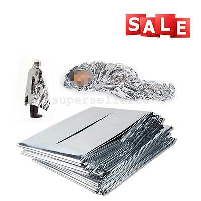 Thermal Emergency Rescue Space Mylar Blanket Silver Outdoor Camping Survival Hot