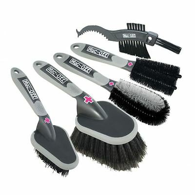 Muc Off Premium 5 Brush Set Motorbike Motorcycle Cleaning Care New