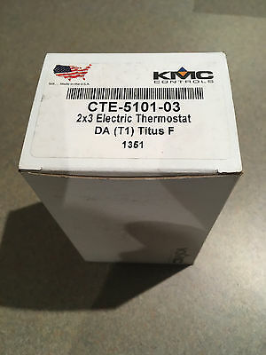 NEW-KMC CTE-5101-03 DA (T1) Titus F Thermostat Package 2x3