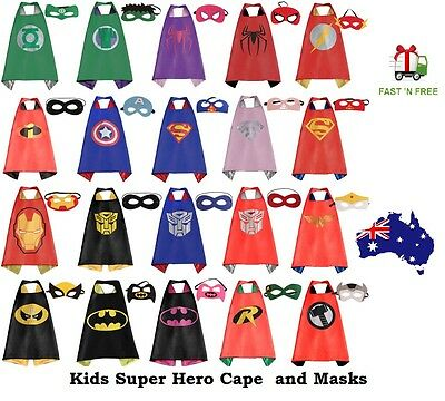 Kids Superhero Capes with Masks Batman Spiderman frozen Dress Up Cape Costume