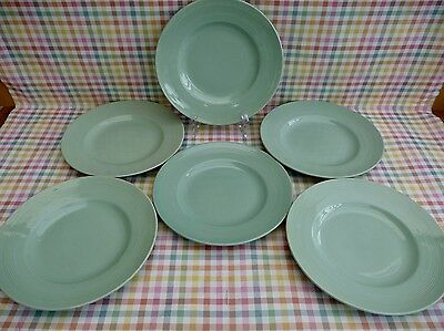 SET OF 6 VINTAGE WOODS WARE 'BERYL' DINNER PLATES 25cm - FAB CONDITION