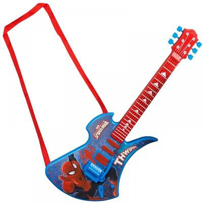 Spiderman Deluxe Childrens Kids Acoustic Guitar Musical Instrument Childs Toy