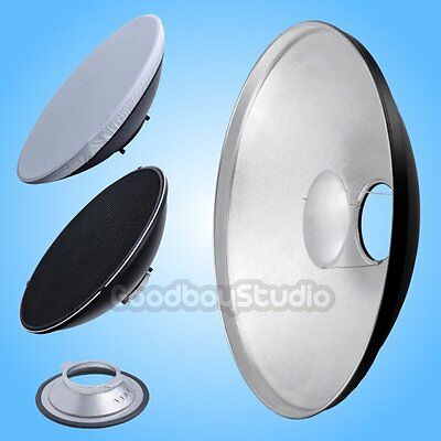 55cm 22'' Silver Honeycomb Beauty Dish Broncolor-B Mount (Speedring Changeable)