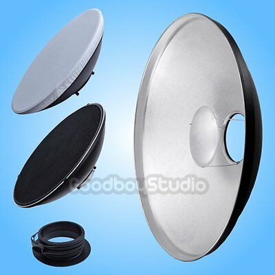 42cm Silver Honeycomb Grid Beauty Dish Profoto Mount (Speedring Changeable)