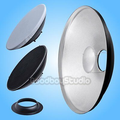 AU 55cm Silver Honeycomb Grid Beauty Dish Balcar Mount (Speedring Changeable)
