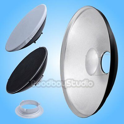 [AU] 55cm Silver Honeycomb Grid Beauty Dish Bowens Mount (Speedring Changeable)