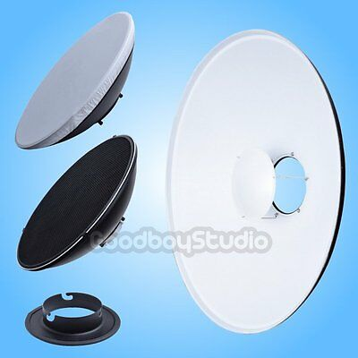 55cm 22'' White Honeycomb Grid Beauty Dish Comet-B Mount (Speedring Changeable)